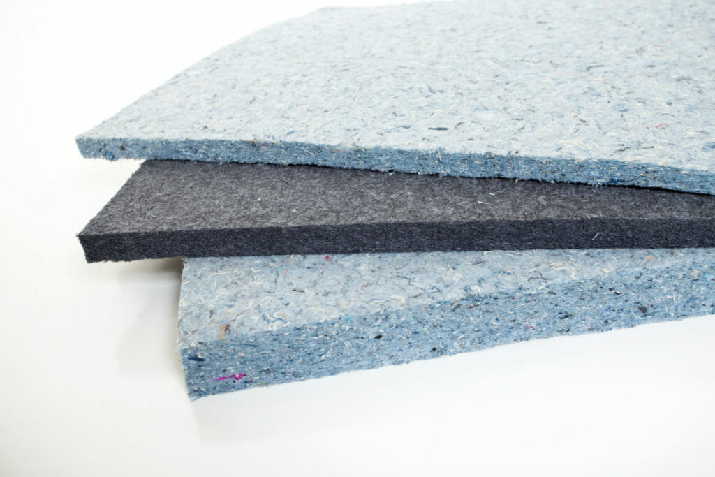 Different thicknesses and colors of Echo Eliminator products, for sale at Acoustical Surfaces.
