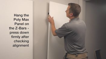 Installing acoustic wall panel poly max