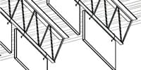 Baffles Attach to Bar Joist – Parallel