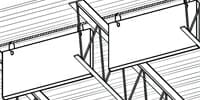Baffles Attach to Bar Joist – w/Cable