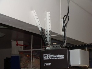 Noisy Garage Door Opener Before Picture