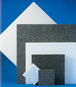 Porous Expanded Polypropylene (P.E.P.P.) Acoustical Wall and Ceiling Tile Panels