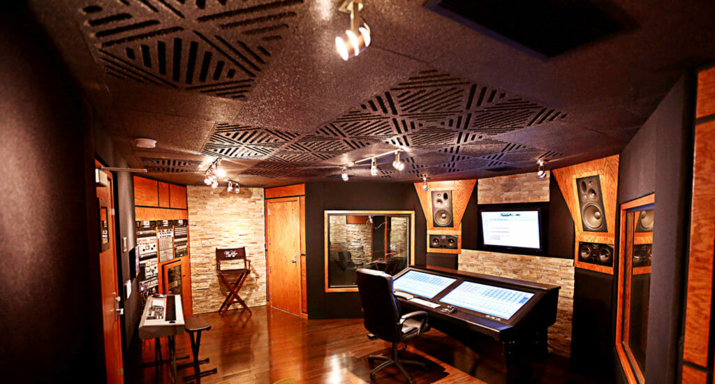 A studio using Sound Silencer by Acoustical Surfaces.