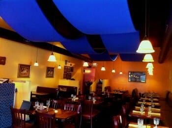 Acousti Banners by Acoustical Surfaces in a Restaurant