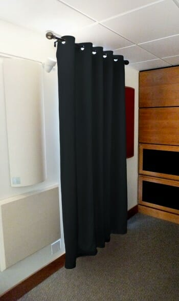 acoustical sound absorbing curtain