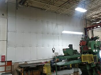 Acoustical Baffles on Wall