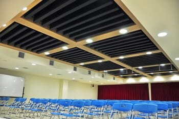 Conference Room with Silk Metal Baffles