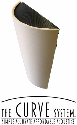 The Curve System Studio Acoustics Acoustic Curved Diffusor