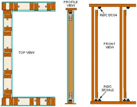 RSIC-DC04 Low Profile Wall System Standard Duty RSIC-DC04x2 Design