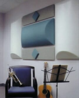 Acoustical Diffusers on Wall