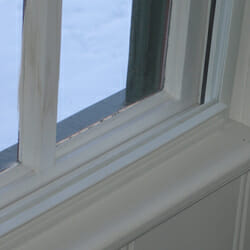 Climate Seal Insert Installed Inside of Window Jamb