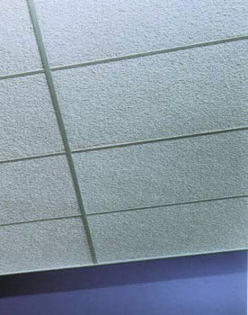 Painted Nubby Fibergl Acoustical Ceiling Tiles