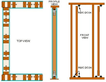 RSIC-DC04 Low Profile Wall System Standard Duty