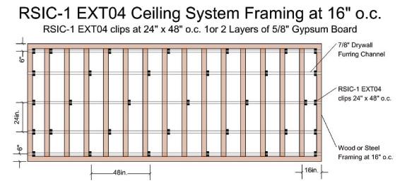 Rsic 1 Ext04 Resilient Ceiling Hangers Acoustical Surfaces