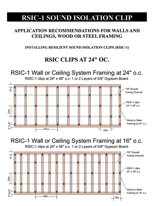 Rsic 1 Resilient Sound Isolation Clips Soundproofing Clips