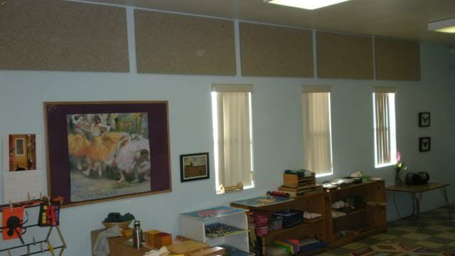 Noisy Classroom after Cotton Acoustical Panels