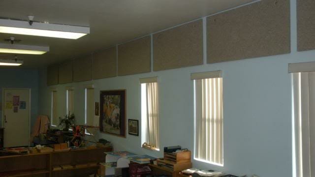 Cotton Acoustical Panel in Classroom