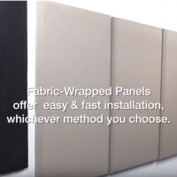 fabric wrapped panel