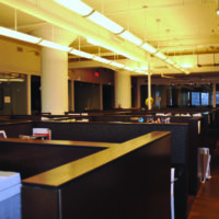 Sound Silencer by Acoustical Surfaces being used in a restaurant.