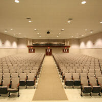 Poly Max™ acoustical panels installed in a church by Acoustical Surfaces.