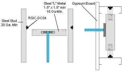 RSIC-DC04 Shower Pipe/Plumbing Isolator