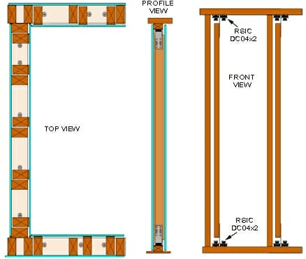 RSIC-DC04 Low Profile Wall System Heavy duty RSIC-DC04x2 Design