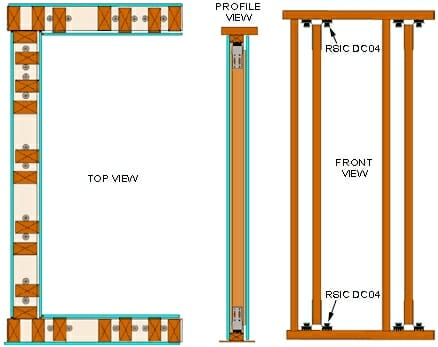 RSIC-DC04 Low Profile Wall System Heavy Duty