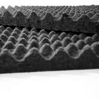 Bonded Acoustical Cotton (B.A.C.) Eggcrate Acoustical Panel