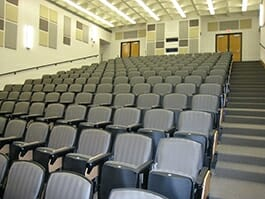 Fabric Wrapped Panels in Classroom