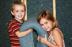 Kids with UltraTouch Insulation