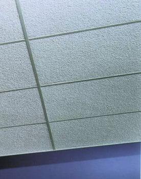 Painted Nubby Fiberglass Acoustical Ceiling Tiles by Acoustical Surfaces
