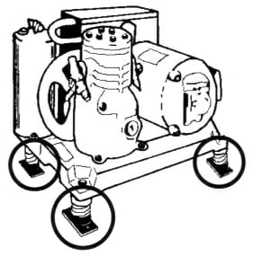 Pump with SPring Mount