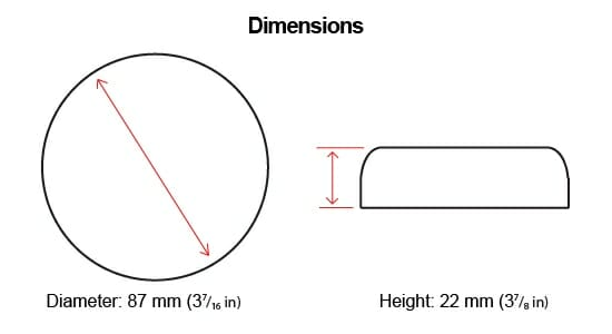 Vibration Exciter Dimensions