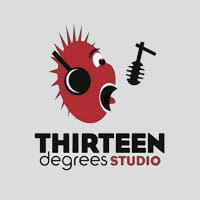 thirteen degrees studio logo